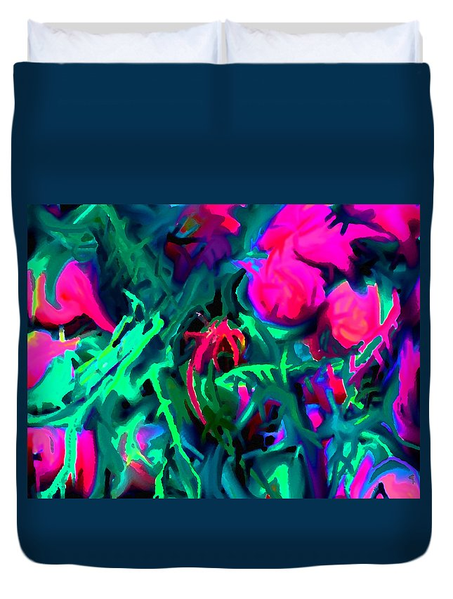 Abstract Duvet Cover featuring the digital art Twisted by Ian MacDonald