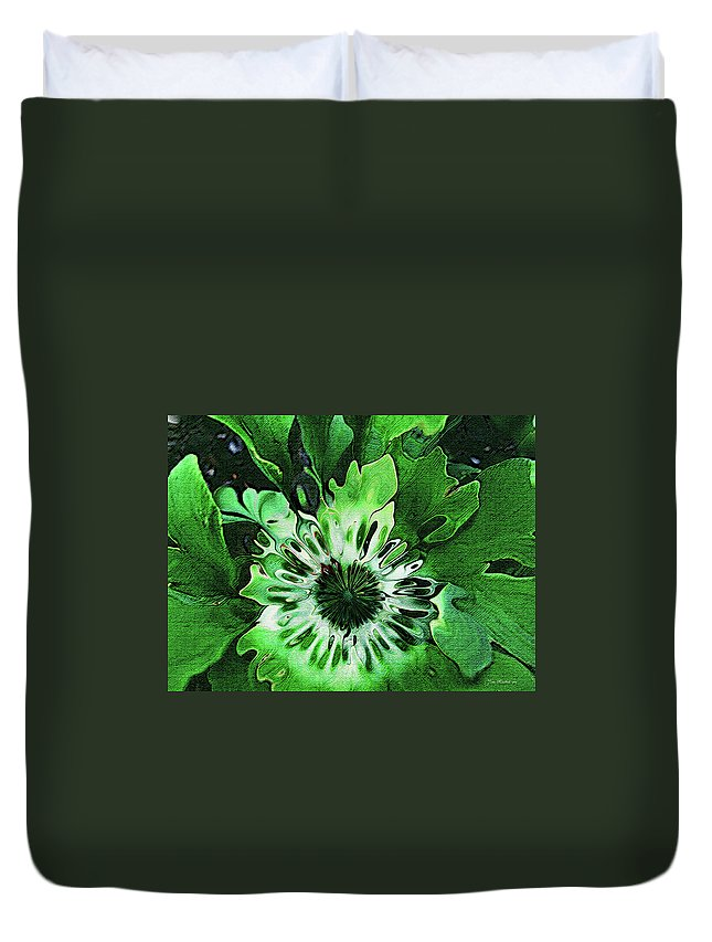 Leaves Duvet Cover featuring the digital art Twisted Leaves by Joan Minchak