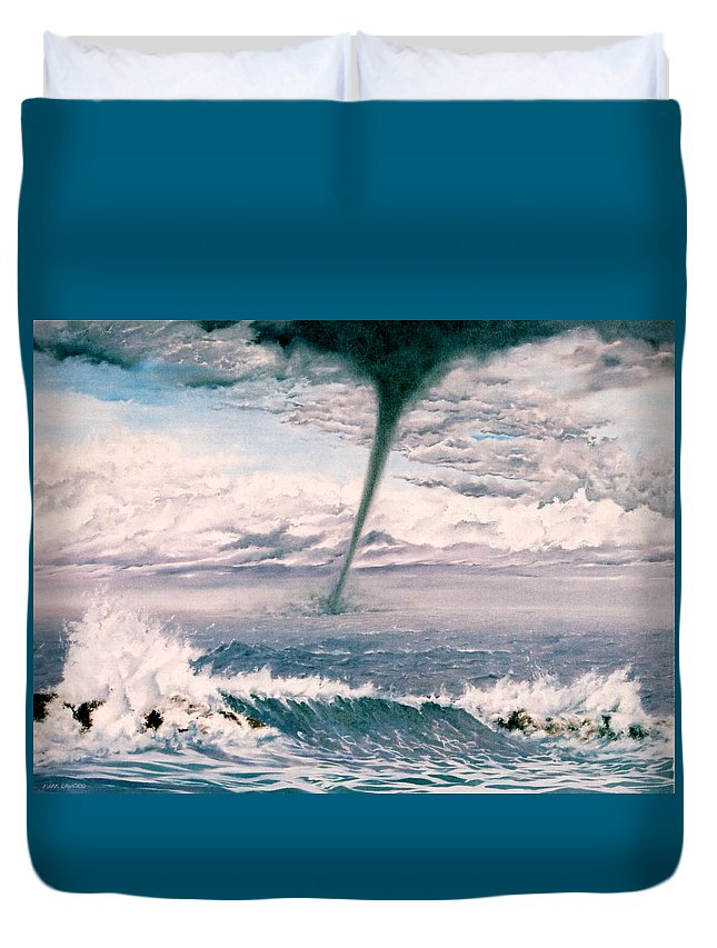 Seascape Duvet Cover featuring the painting Twisted Nature by Mark Cawood