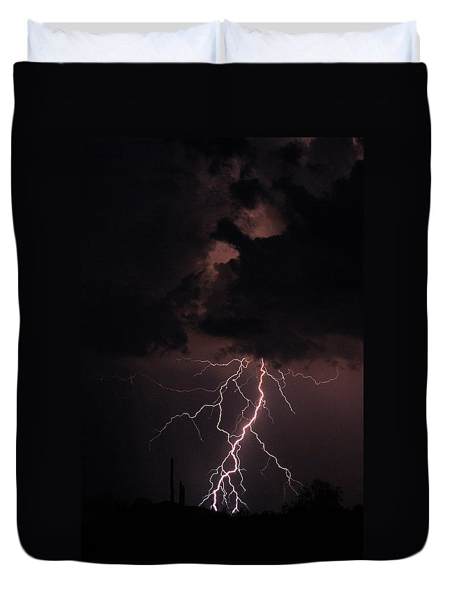 Lightning Duvet Cover featuring the photograph Twisted Sister by James BO Insogna