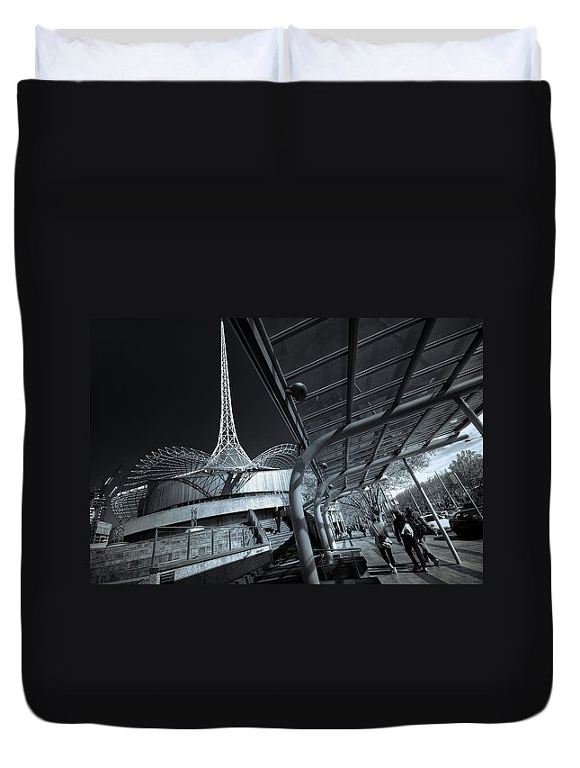 Architecture Duvet Cover featuring the photograph Twister by Wayne Sherriff
