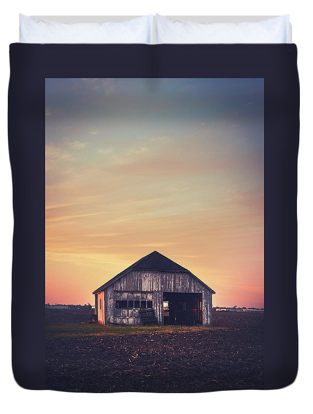 Two Car Garage Duvet Cover featuring the photograph Two Car Garage by David Jilek