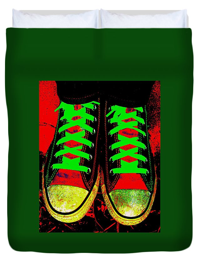 Still Life Duvet Cover featuring the photograph Two Left Feet by Ed Smith