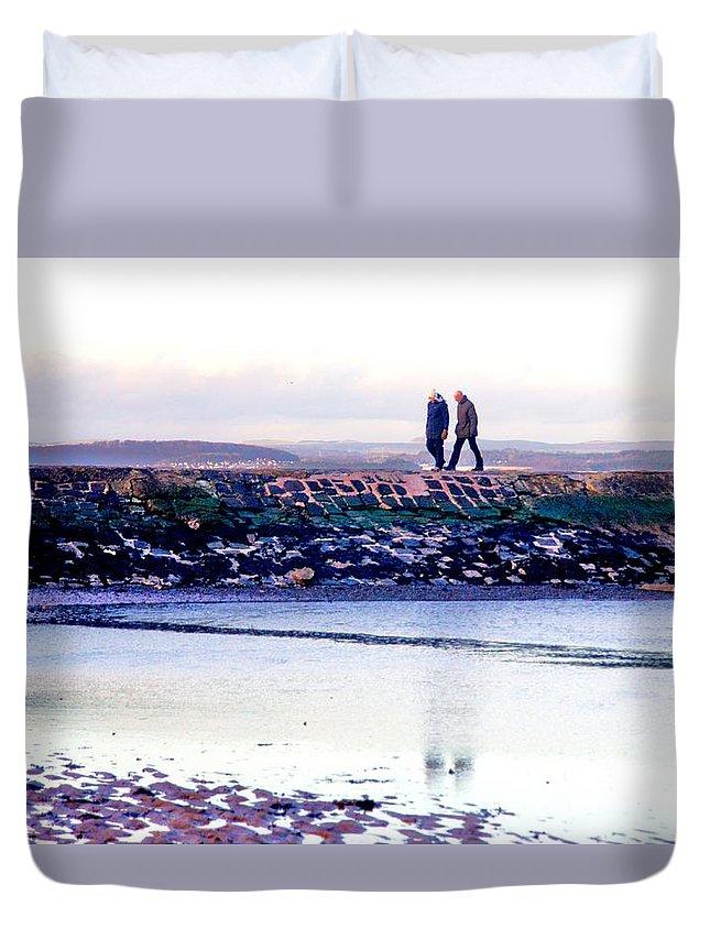 Nik Watt Duvet Cover featuring the photograph Two Men Went For A Walk by Nik Watt