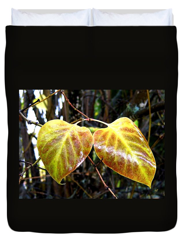 Autumn Duvet Cover featuring the photograph Two Of A Kind by Will Borden