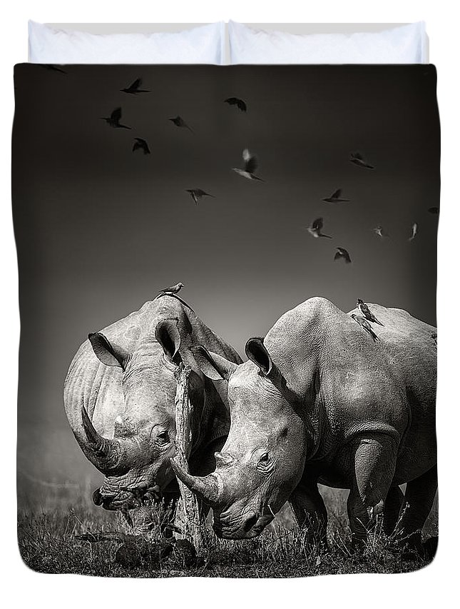 Rhinocerus Duvet Covers