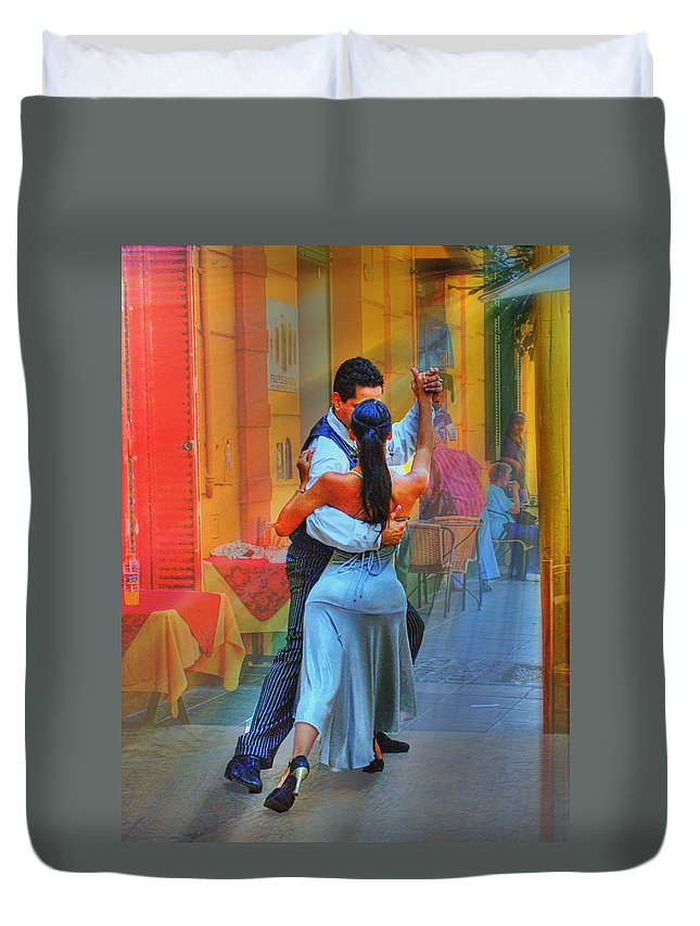 Dance Duvet Cover featuring the photograph Two Tango by Francisco Colon