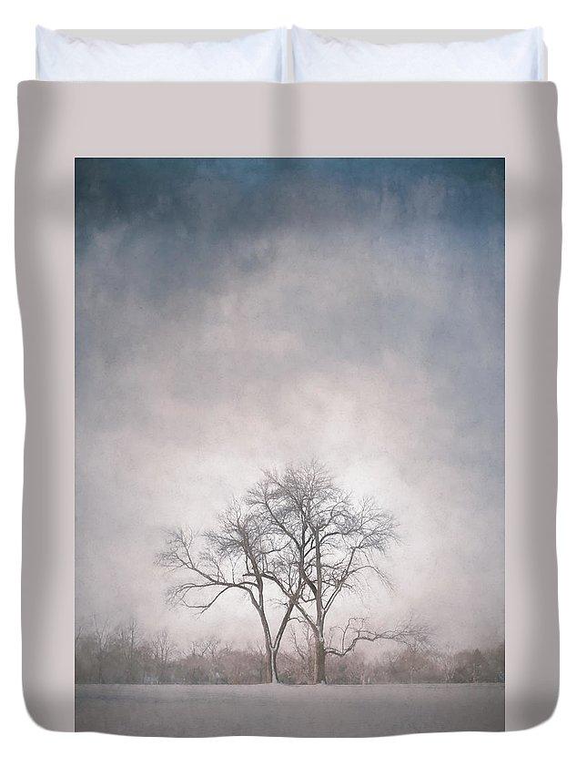 Scott Norris Photography Duvet Cover featuring the photograph Two Trees by Scott Norris