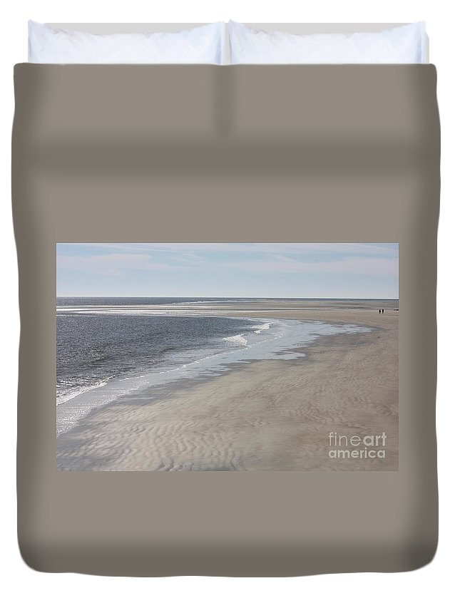 Tybee Island Duvet Cover featuring the photograph Tybee Island Beach by Carol Groenen