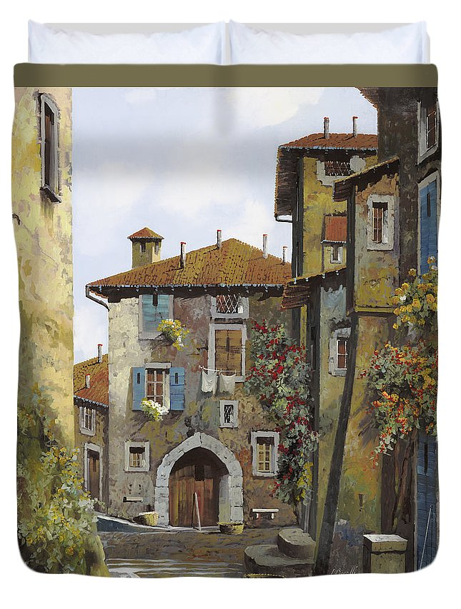 Umbria Duvet Cover featuring the painting Umbria by Guido Borelli