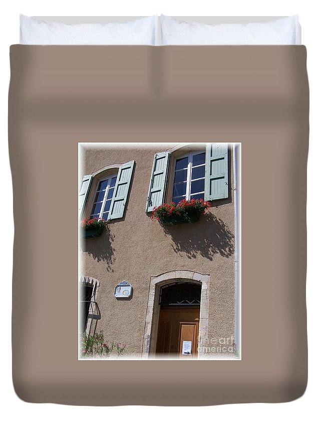 House Duvet Cover featuring the photograph Un Maison by Nadine Rippelmeyer