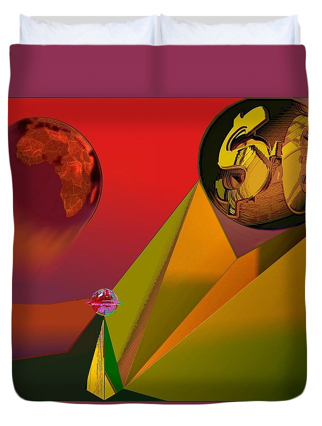 Earth Duvet Cover featuring the digital art Unbalanced-the Source Of Violence by Helmut Rottler