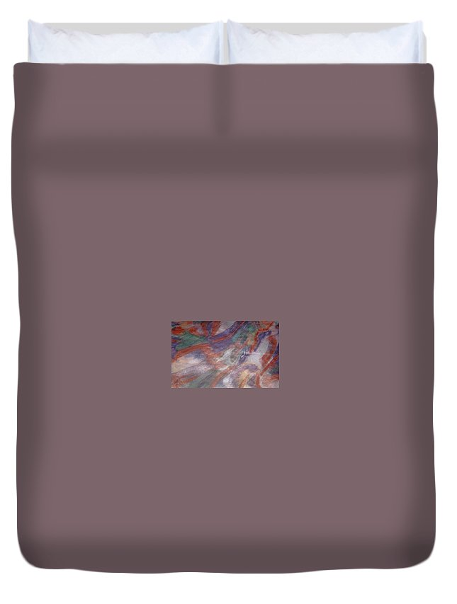 Non Duality Duvet Cover featuring the painting Unclaimed Talent by Paula Andrea Pyle