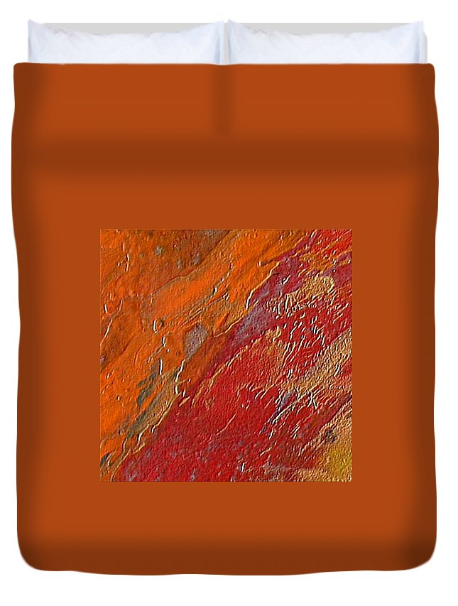 Encaustic Painting Duvet Cover featuring the painting Uncontrollable Passion by Dragica Micki Fortuna
