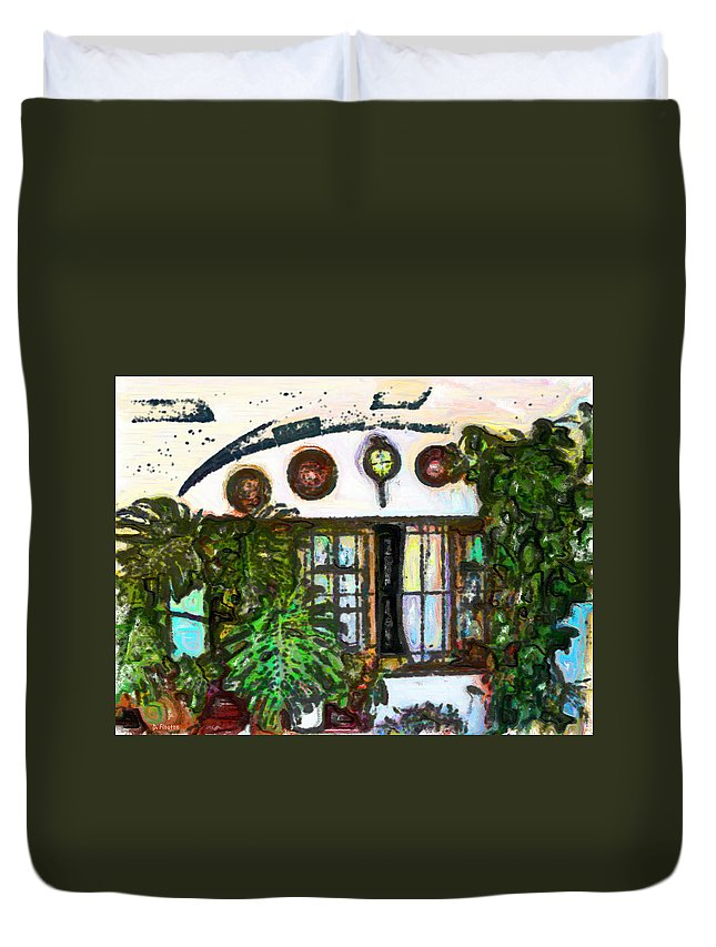 Ebsq Duvet Cover featuring the photograph Under The Arch by Dee Flouton