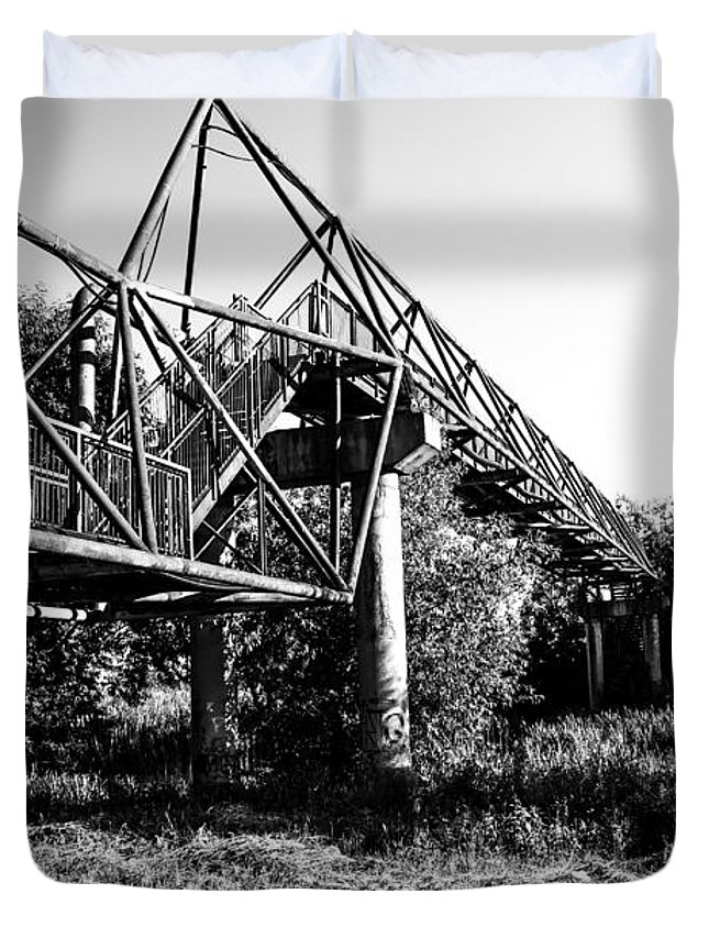Arhitecture Duvet Cover featuring the photograph Under The Bridge by Costantinescu Andrei