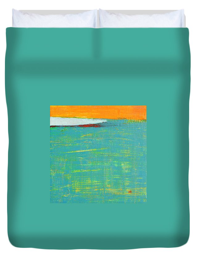 Abstract Duvet Cover featuring the painting Under The Pressure by Habib Ayat