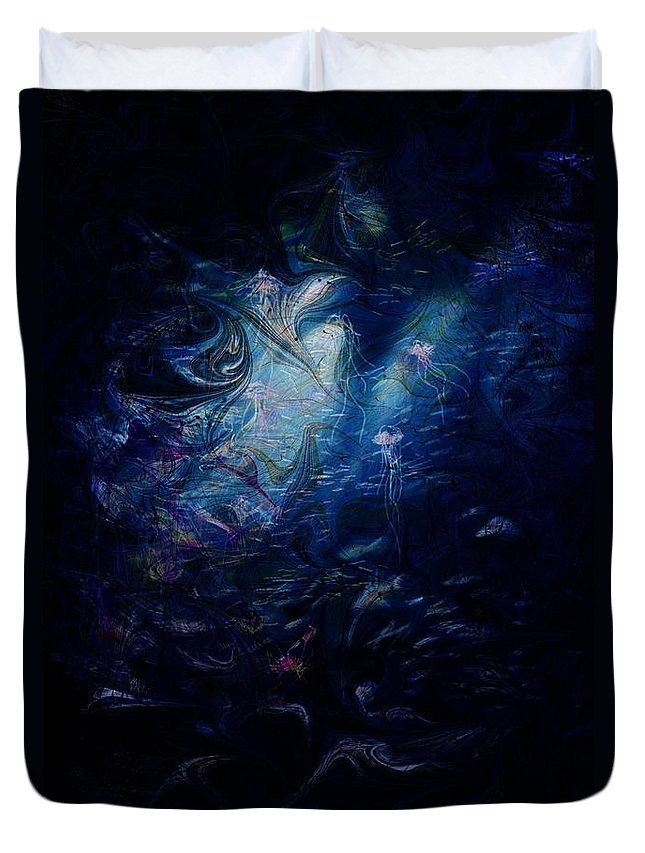 Abstract Duvet Cover featuring the digital art Under the Sea by William Russell Nowicki
