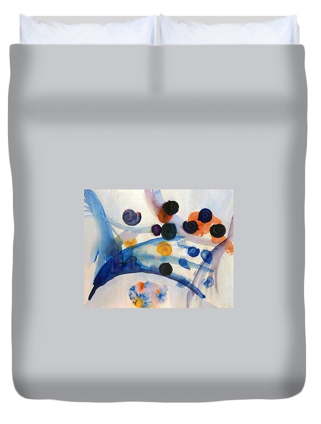 Abstract Duvet Cover featuring the painting Under The Sea by Steve Karol