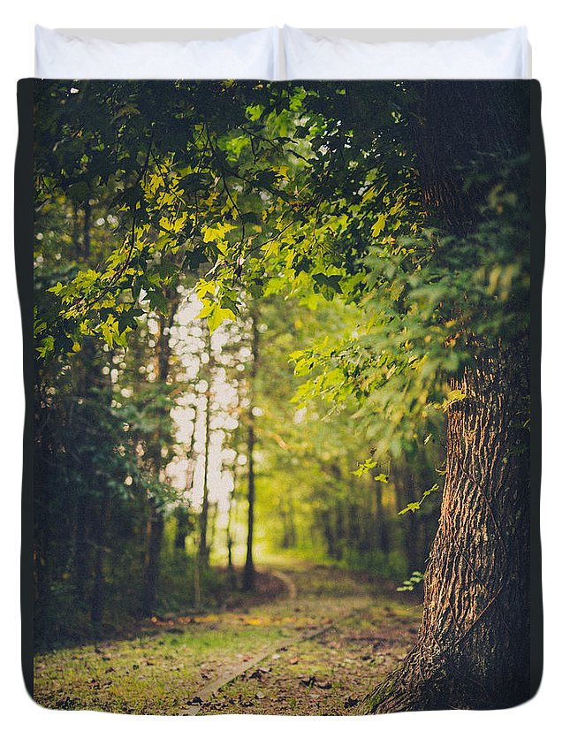 Tree Duvet Cover featuring the photograph Under The Tree by Shane Holsclaw