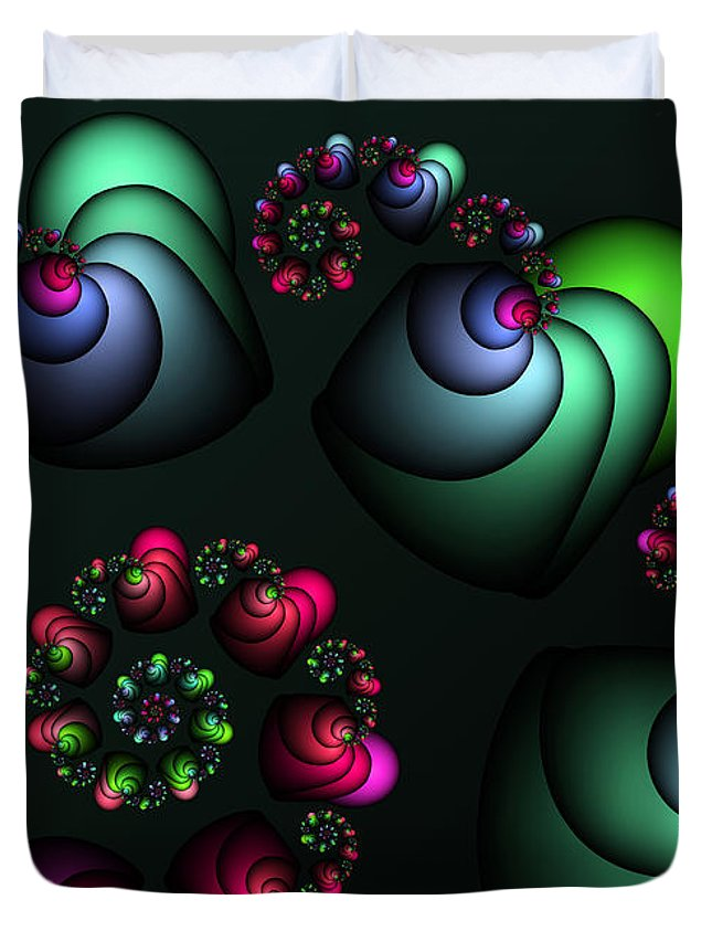 Fractal Duvet Cover featuring the digital art Underground Universe by Jutta Maria Pusl