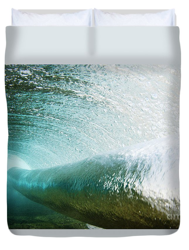 Amaze Duvet Cover featuring the photograph Underwater Barrel by Vince Cavataio - Printscapes