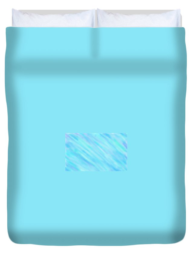 Graphic Art Duvet Cover featuring the digital art Underwater by Bethany Morrow