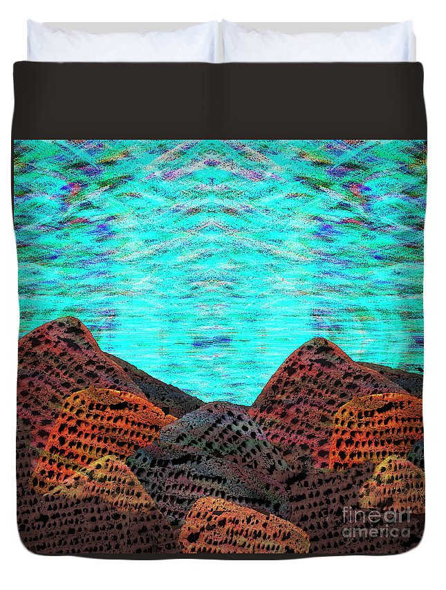 Lost Planet Duvet Cover featuring the digital art Undiscovered Planet by Andy Mercer
