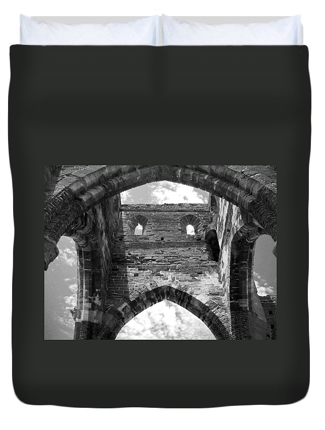 Bermuda Duvet Cover featuring the photograph Unfinished Church by Julia Raddatz