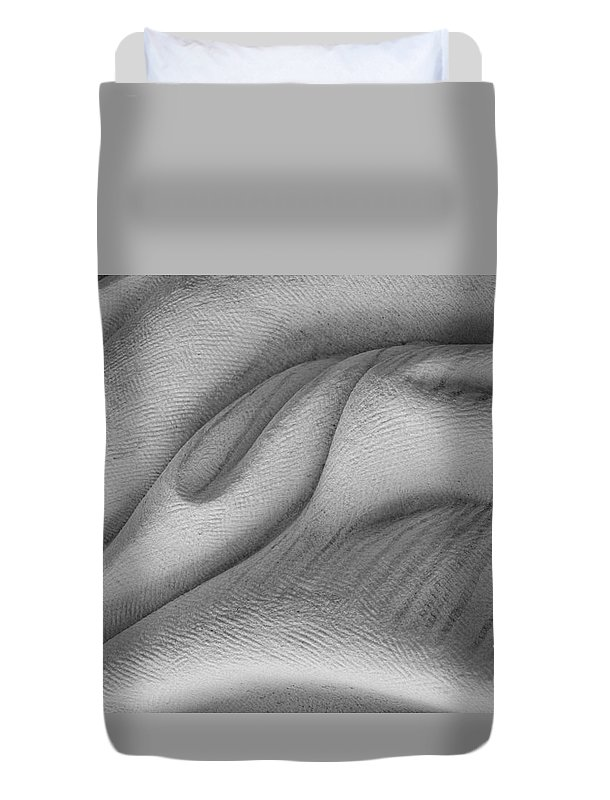 Marble Duvet Cover featuring the photograph Unfolding And Enfolding -- V by Marilyn Cornwell
