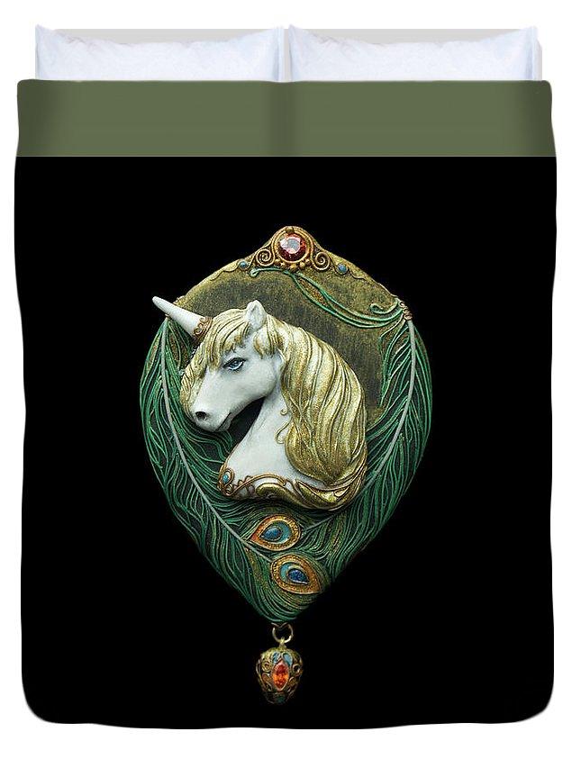 Unicorn Duvet Cover featuring the photograph Unicorn by Olga Akulinina