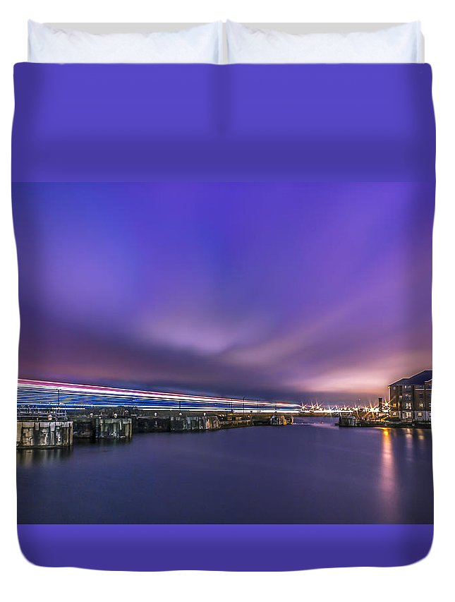 Britannia Duvet Cover featuring the photograph Union Flag Sail Past by Paul Madden