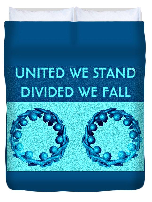 United Duvet Cover featuring the digital art United by Meiers Daniel