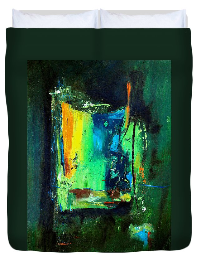 Abstract Duvet Cover featuring the painting Unity In The Body by Ruth Palmer