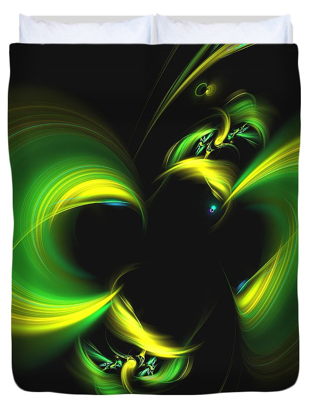 Art Duvet Cover featuring the digital art Universal Joy by Jeff Iverson