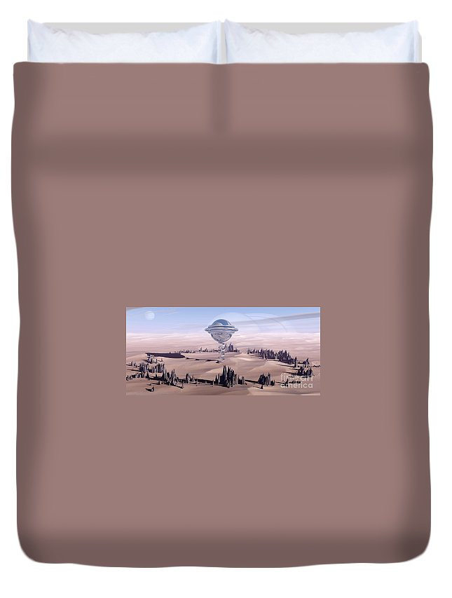 Surreal Duvet Cover featuring the digital art Universal Time by Richard Rizzo