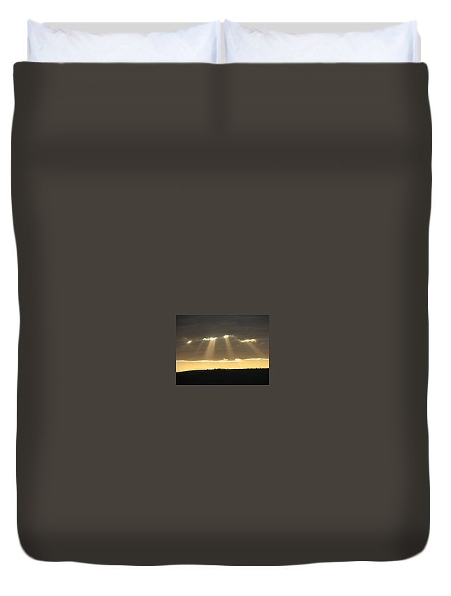 Hills Duvet Cover featuring the photograph Universe Light by Leandro Sebastian  Marquez