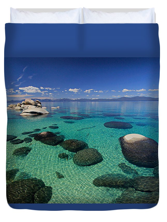 Lake Tahoe Duvet Cover featuring the photograph Unmatched Clarity by Sean Sarsfield