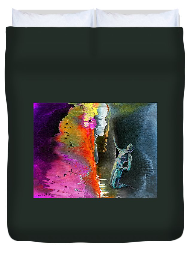 Dream Duvet Cover featuring the painting Unrequited Love by Miki De Goodaboom