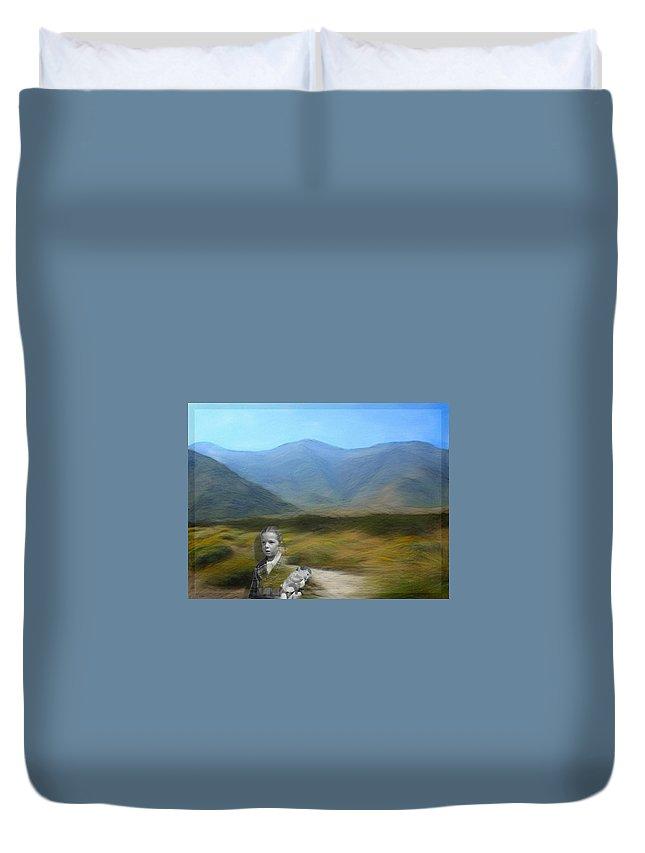 Desert Duvet Cover featuring the digital art Unresolved by Snake Jagger