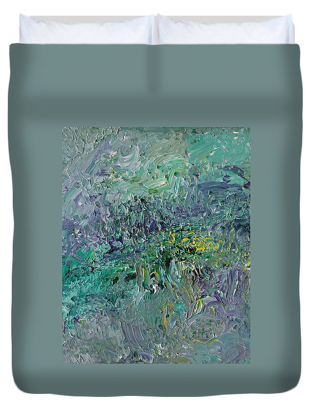 Fusionart Duvet Cover featuring the painting Blind Giverny by Ralph White