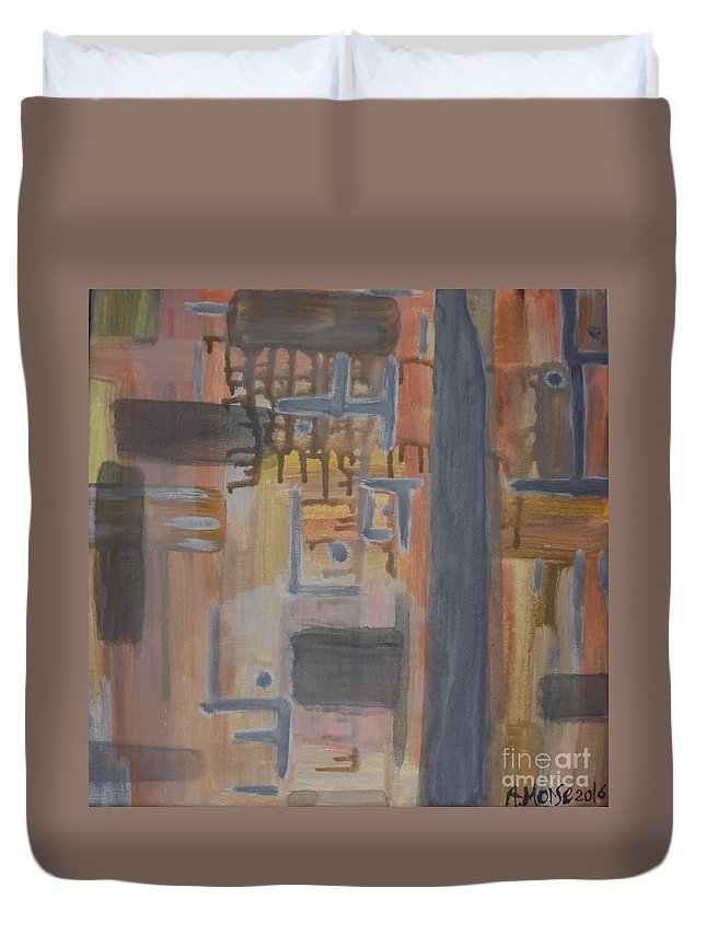 Absinthe Duvet Cover featuring the painting Untitled-0131 by RA Morse