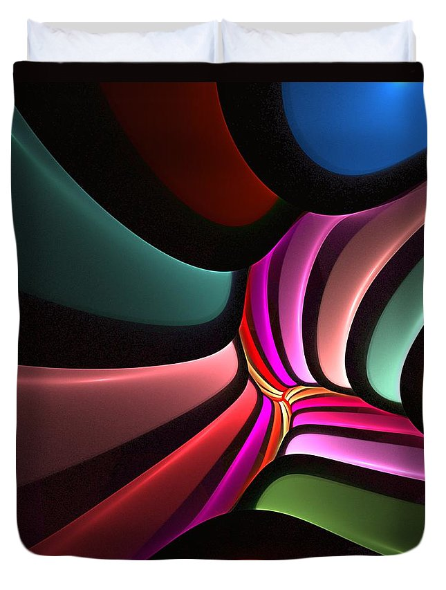 Digital Painting Duvet Cover featuring the digital art Untitled 02-26-10-a by David Lane