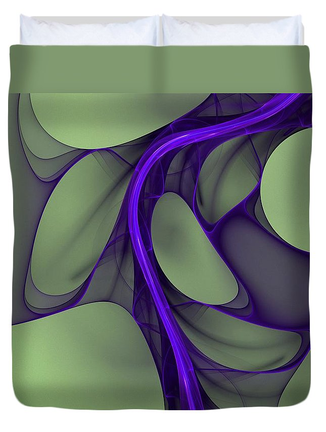 Digital Painting Duvet Cover featuring the digital art Untitled 02-26-10 by David Lane