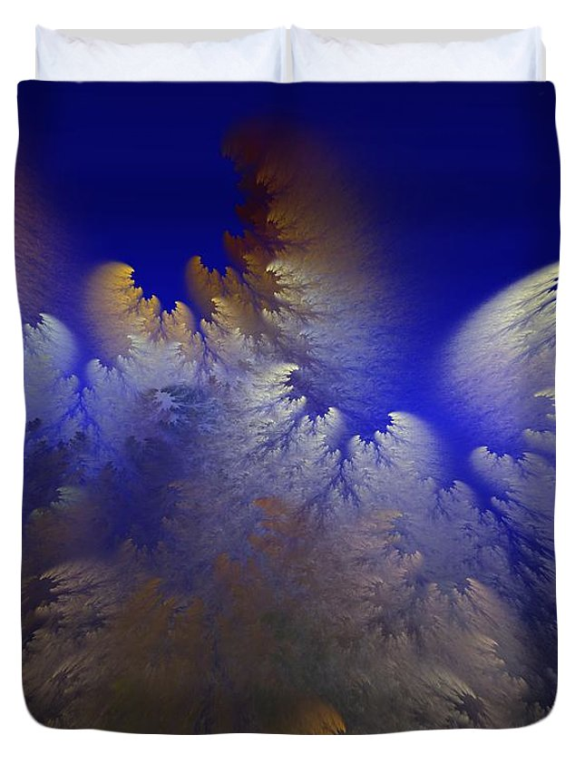 Abstract Digital Painting Duvet Cover featuring the digital art Untitled 11-1-09 by David Lane