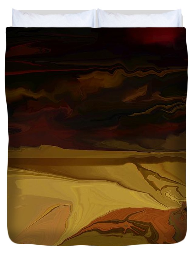 Fantasy Duvet Cover featuring the digital art Untitled 12-02-09 by David Lane