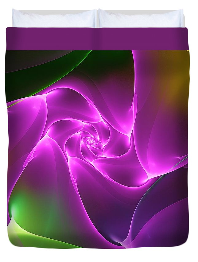 Digital Painting Duvet Cover featuring the digital art Untitled 4-06-10 by David Lane