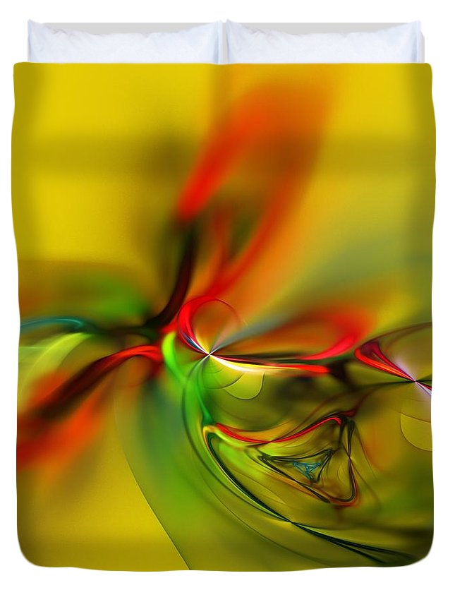 Digital Painting Duvet Cover featuring the digital art Untitled 4-13-10-a by David Lane