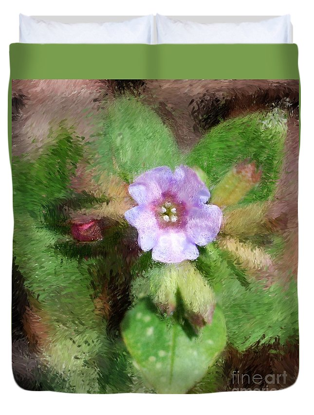 Digital Photo Duvet Cover featuring the photograph Untitled Floral -1 by David Lane
