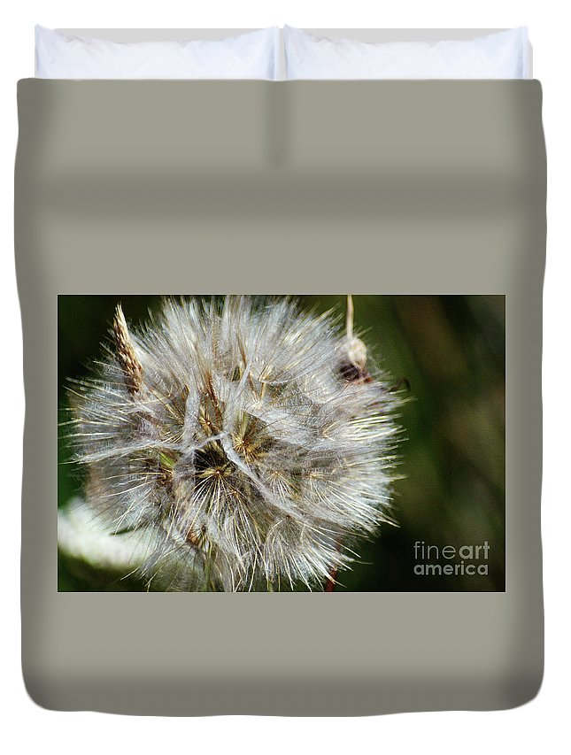 Photo Duvet Cover featuring the photograph Untitled Flower by Aaron Emptage
